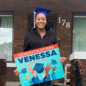Venessa On Track student graduate