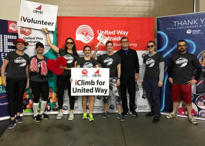 Emerging Philanthropists at iClimb for United Way event