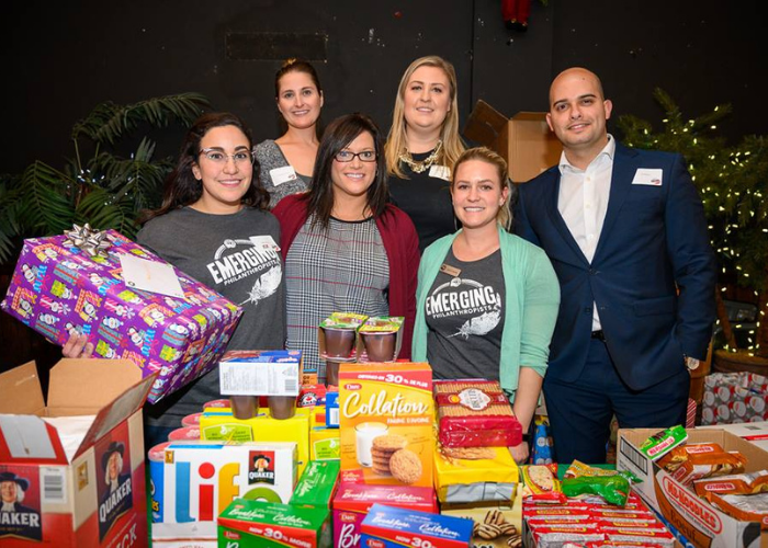 Emerging Philanthropists Christmas collection event